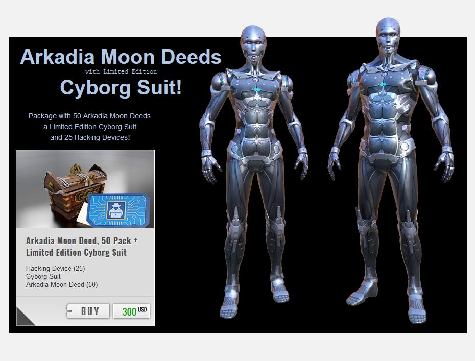 arkadia cyborg suit.
