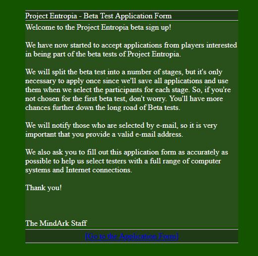 beta application.