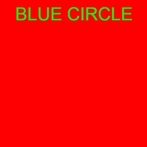 blue circle.