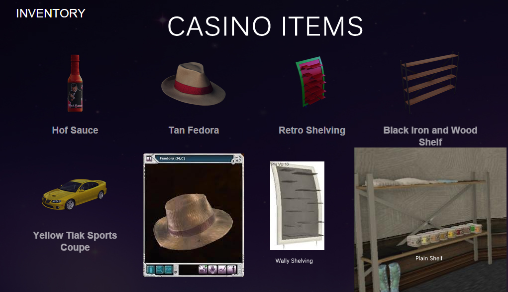 casino items.