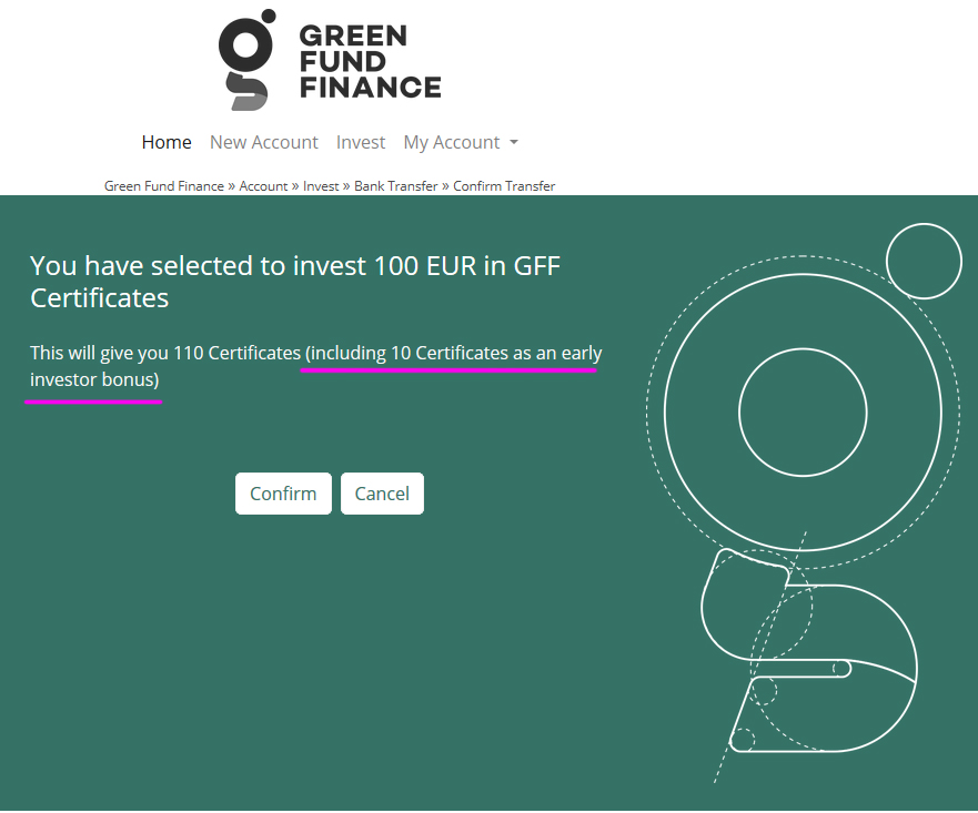 green fund minimum investment early investor.