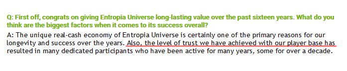 lvl of trust.