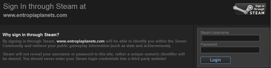 Steam login 2.