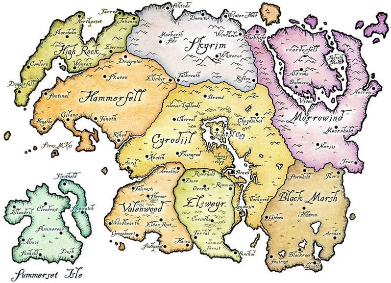 Tamriel map.