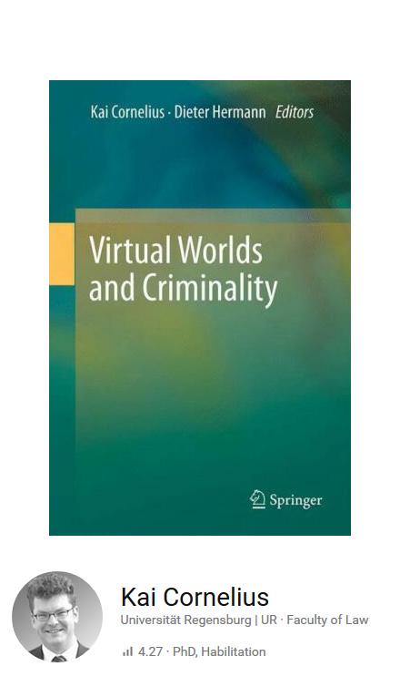 virtual worlds and criminality.