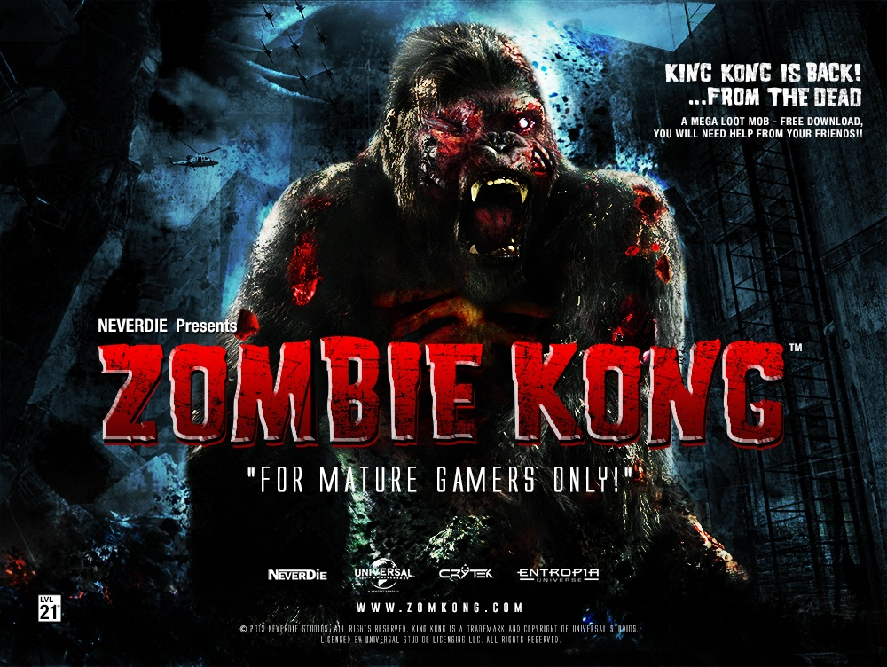 Zombie Kong poster.
