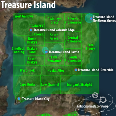 Treasure Island Overview Map