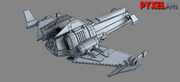Theryon Wars Fighter Wireframe 3D Model 02.png
